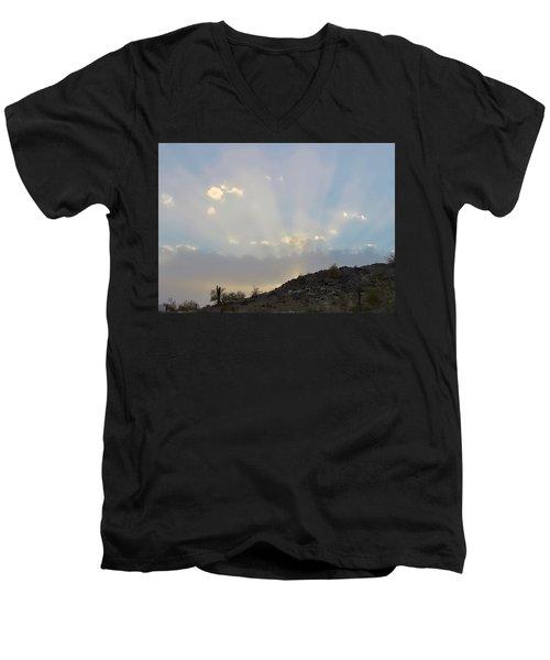 Suntensed Men's V-Neck T-Shirt