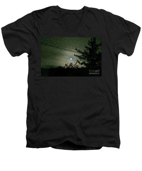 Super Moon Colors Men's V-Neck T-Shirt