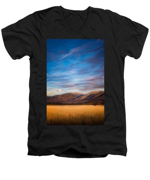 Super Moon Rise Men's V-Neck T-Shirt