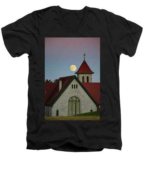 Super Moon Rising Men's V-Neck T-Shirt