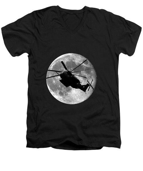 Super Stallion Silhouette .png Men's V-Neck T-Shirt by Al Powell Photography USA