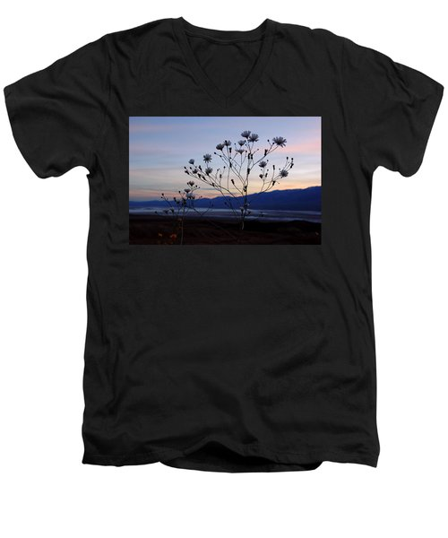 Superbloom Sunset In Death Valley 102 Men's V-Neck T-Shirt by Daniel Woodrum