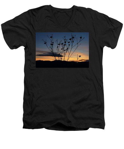 Superbloom Sunset In Death Valley 103 Men's V-Neck T-Shirt by Daniel Woodrum