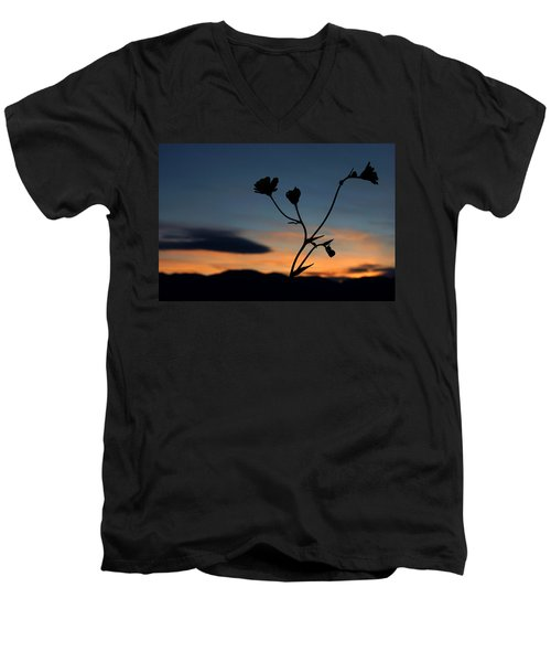 Superbloom Sunset In Death Valley 105 Men's V-Neck T-Shirt by Daniel Woodrum