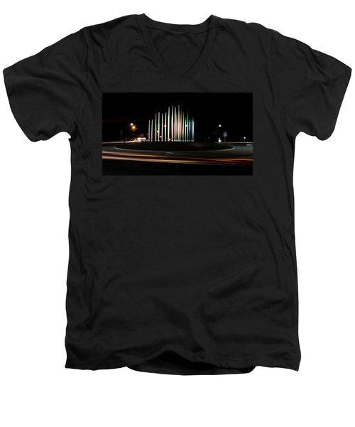 Superior Circle Art - Fort Wayne Indiana Men's V-Neck T-Shirt