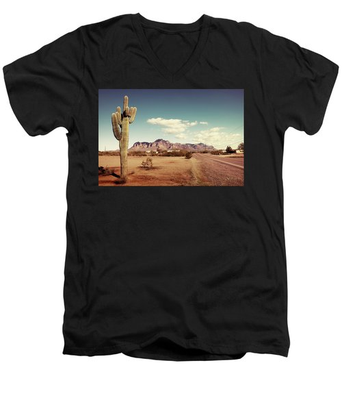 Superstition Men's V-Neck T-Shirt by Joseph Westrupp
