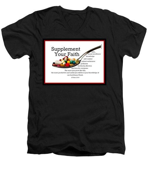 Supplement Your Faith Men's V-Neck T-Shirt