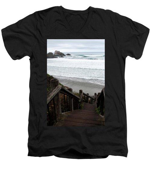 Surf Stairway Men's V-Neck T-Shirt