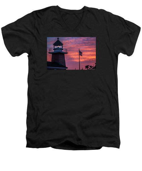 Surfing Museum Full Color  Men's V-Neck T-Shirt by Lora Lee Chapman