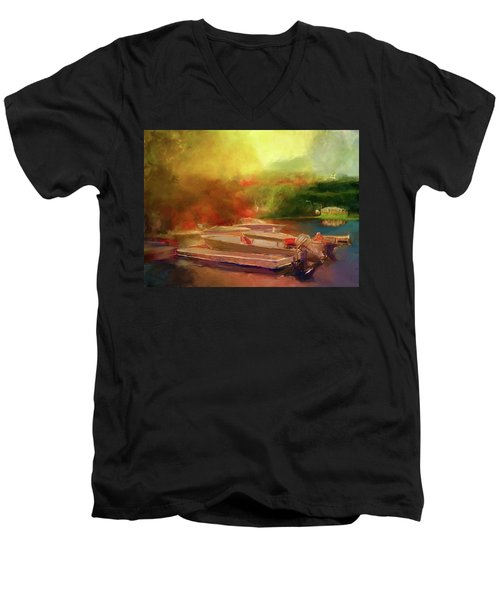 Surreal Sunset In Spanish Men's V-Neck T-Shirt