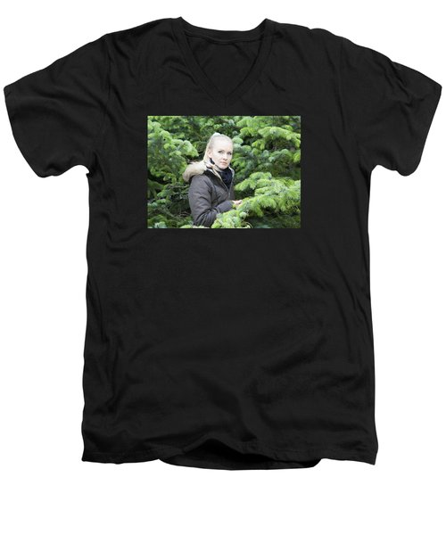 Surrounded By Trees Men's V-Neck T-Shirt