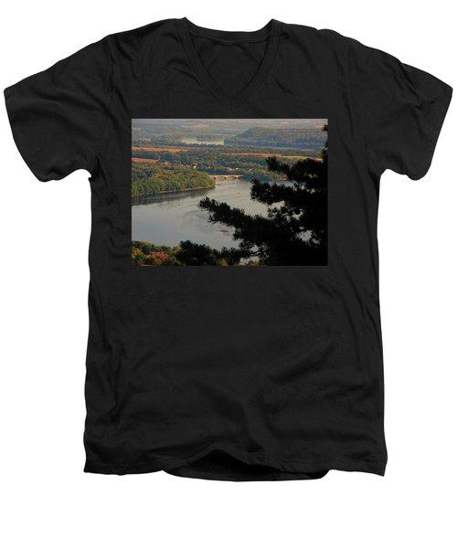 Susquehanna River Below Men's V-Neck T-Shirt