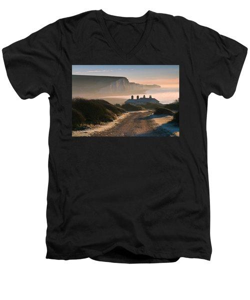 Sussex Coast Guard Cottages Men's V-Neck T-Shirt