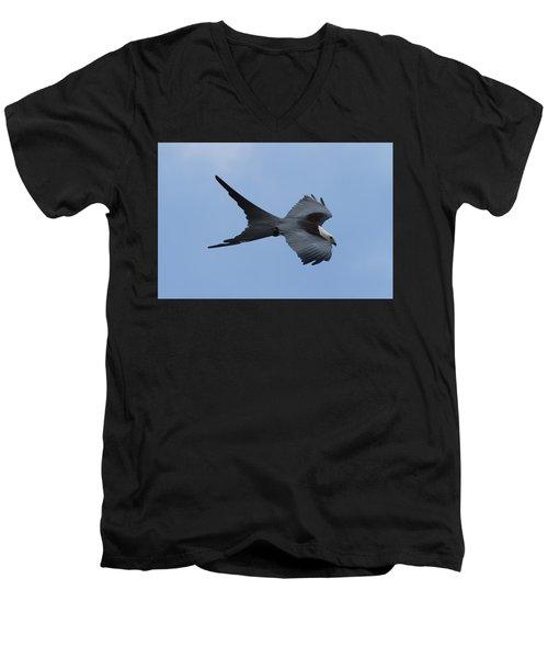 Swallow-tailed Kite #1 Men's V-Neck T-Shirt by Paul Rebmann