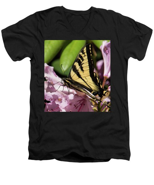 Swallowtail Butterfly Men's V-Neck T-Shirt by Marilyn Wilson
