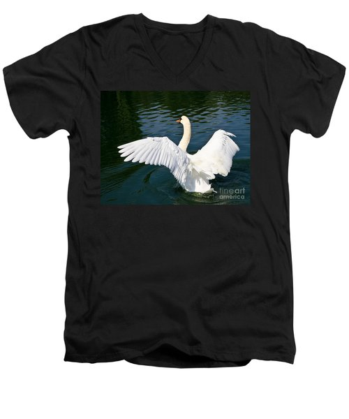 Swan Moment Men's V-Neck T-Shirt