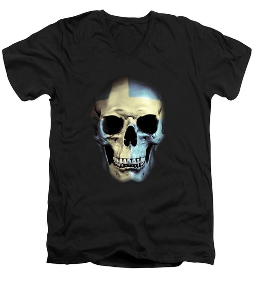 Swedish Skull Men's V-Neck T-Shirt