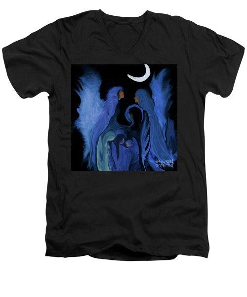 Sweet Angelfamily Men's V-Neck T-Shirt