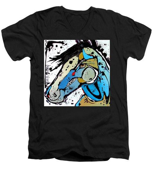 Sweet Blue Men's V-Neck T-Shirt