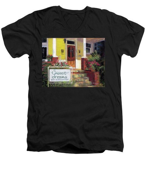 Men's V-Neck T-Shirt featuring the painting Sweet Dreams by Julie Maas