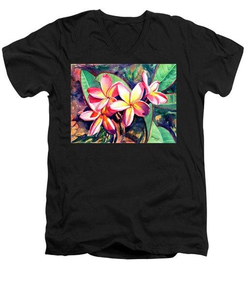 Sweet Plumeria Men's V-Neck T-Shirt