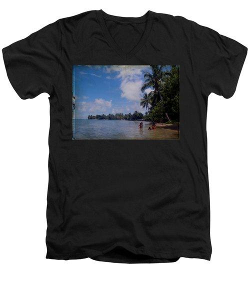 Swimming In Moorea Men's V-Neck T-Shirt