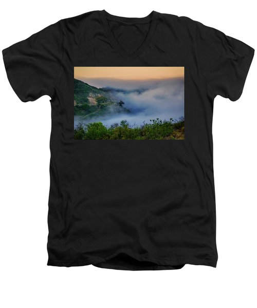 Switchbacks In The Clouds Men's V-Neck T-Shirt