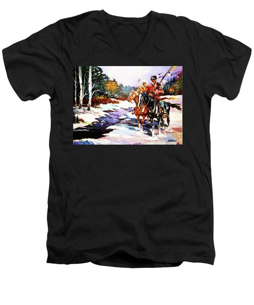 Snowbound Hunters Men's V-Neck T-Shirt