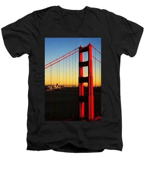 Symphonie In Steel Men's V-Neck T-Shirt