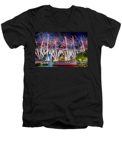 Symphony In The Stars As Seen Around Echo Lake Men's V-Neck T-Shirt