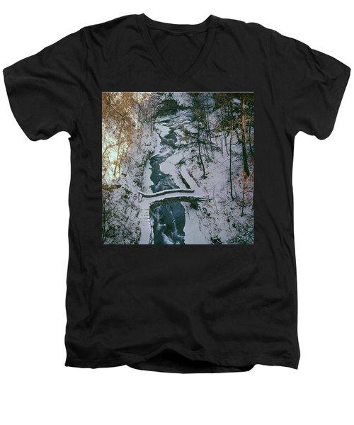 T-31501 Gorge On Cornell University Campus Men's V-Neck T-Shirt