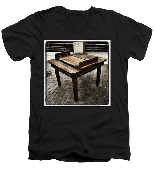 Men's V-Neck T-Shirt featuring the photograph Table That Thought. This Beautiful by Mr Photojimsf
