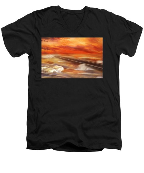 Take The Weather With You Men's V-Neck T-Shirt