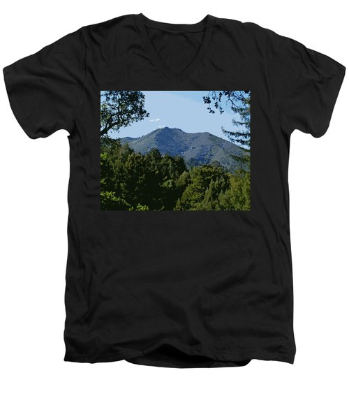 Tamalpais...the Sleeping Princess Men's V-Neck T-Shirt