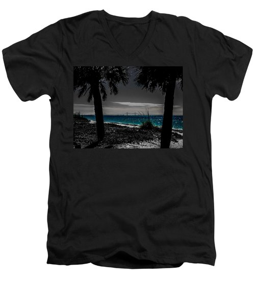 Tampa Bay Blue Men's V-Neck T-Shirt