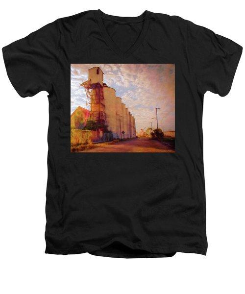 Tampa Docks Men's V-Neck T-Shirt by Glenn Gemmell