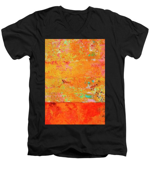 Men's V-Neck T-Shirt featuring the photograph Tangerine Dream by Skip Hunt