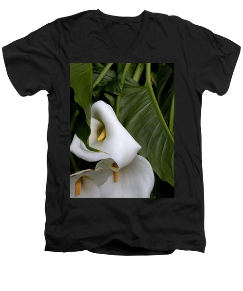 Men's V-Neck T-Shirt featuring the photograph Tangled by Marie Neder