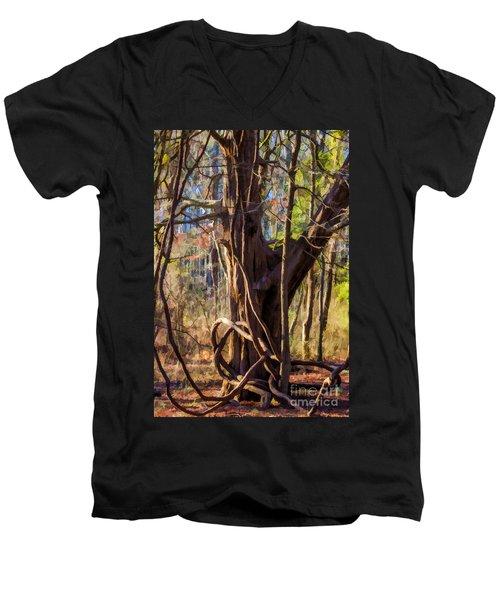 Tangled Vines On Tree Men's V-Neck T-Shirt