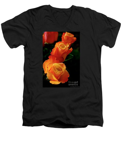 Men's V-Neck T-Shirt featuring the photograph Tango In Three by Cathy Dee Janes