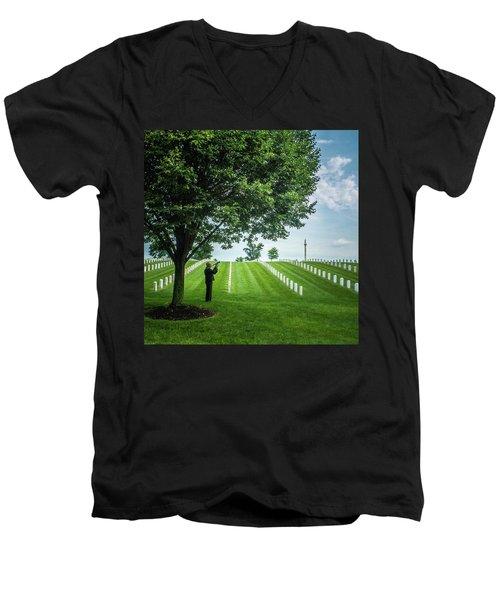 Taps Color Men's V-Neck T-Shirt
