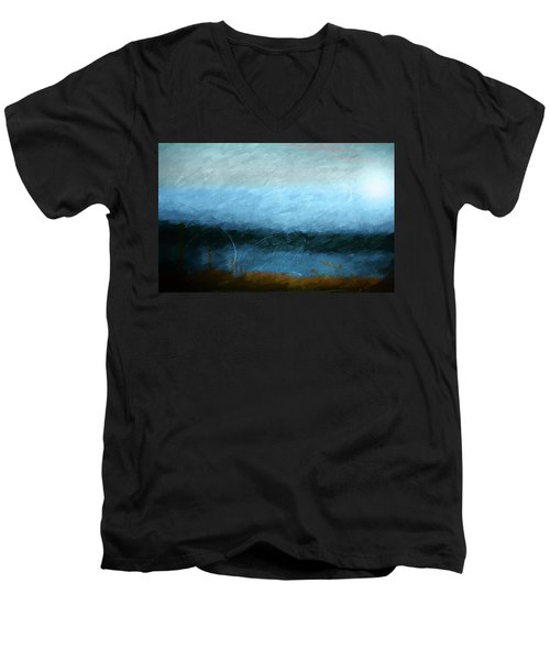 Men's V-Neck T-Shirt featuring the photograph Tarn by Linde Townsend