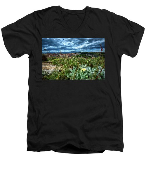 Tarragona From The Roman Wall Men's V-Neck T-Shirt
