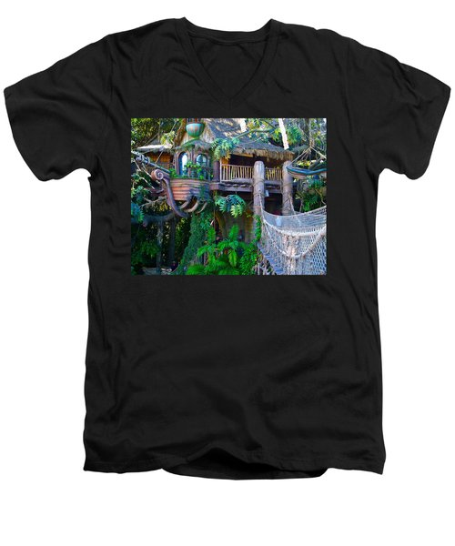 Tarzan Treehouse Men's V-Neck T-Shirt