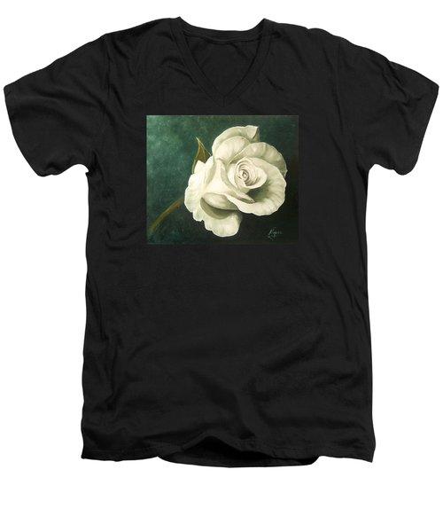 Tea Rose Men's V-Neck T-Shirt