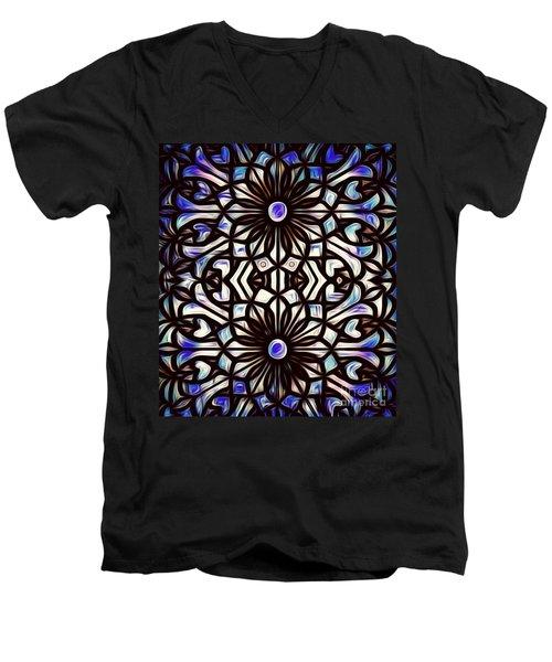 Teal Purple Vibe Men's V-Neck T-Shirt