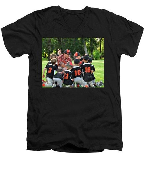 Team Meeting 9737 Men's V-Neck T-Shirt