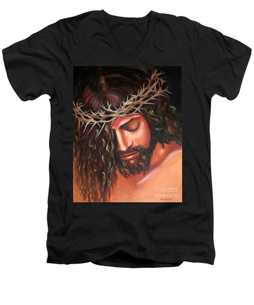 Tears From The Crown Of Thorns Men's V-Neck T-Shirt
