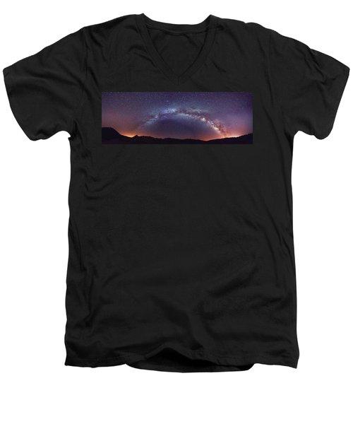 Teide Milky Way Men's V-Neck T-Shirt