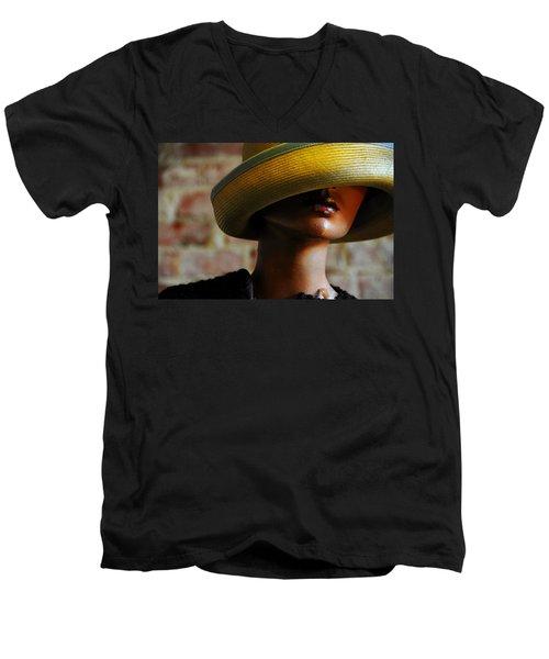 Tel Aviv Men's V-Neck T-Shirt by Skip Hunt
